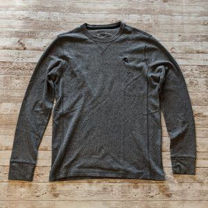 Men's Express Gray Long Sleeve Thermal Top M